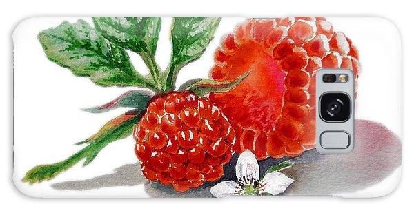 Raspberry Galaxy S8 Case - Artz Vitamins A Very Happy Raspberry by Irina Sztukowski