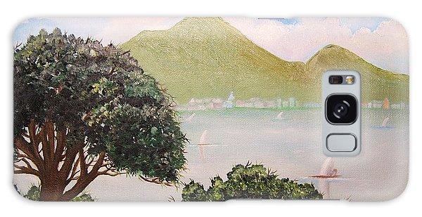 Vesuvius And Umbrella Pine Tree II Galaxy Case