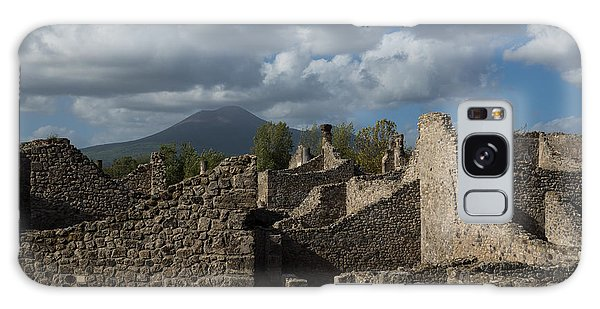 Vesuvius Towering Over The Pompeii Ruins Galaxy Case