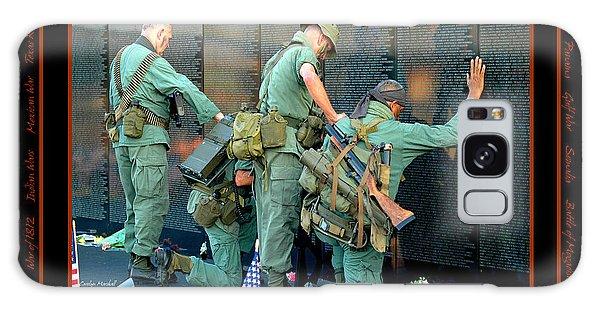Veterans At Vietnam Wall Galaxy Case