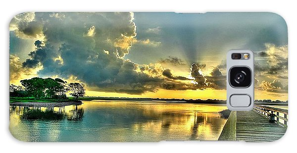 Veterans Pier Sunrise Galaxy Case by Ed Roberts