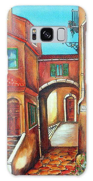 Via Roma In Tuscany Village Galaxy Case by Roberto Gagliardi