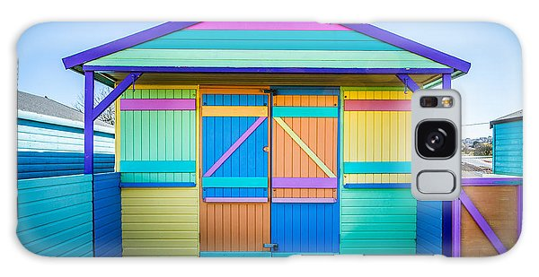 Vibrant Beach Hut Galaxy Case