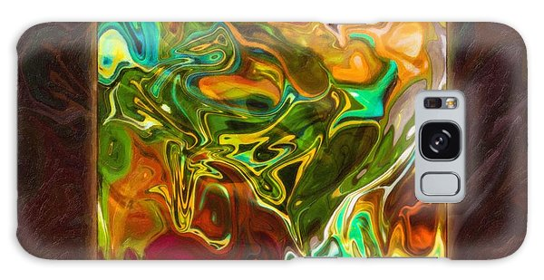 Vibrant Fall Colors An Abstract Painting Galaxy Case