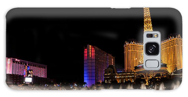 Vibrant Las Vegas - Bellagio's Fountains Paris Bally's And Flamingo Galaxy Case