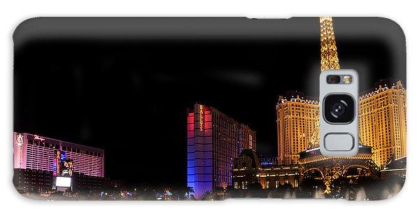 Vibrant Las Vegas - Bellagio's Fountains Paris Bally's And Flamingo Galaxy Case
