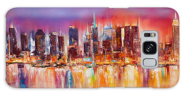 Skylines Galaxy S8 Case - Vibrant New York City Skyline by Manit