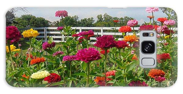 Vibrant Zinnia Garden Galaxy Case