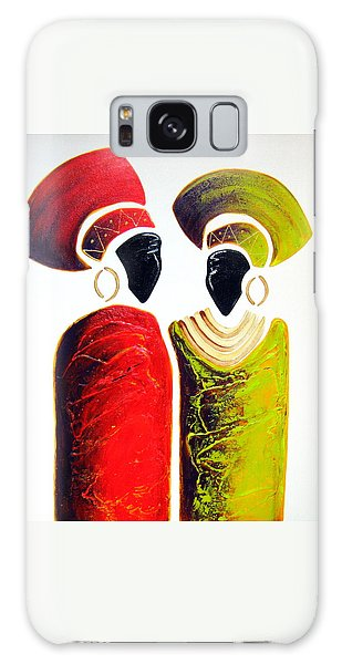 Vibrant Zulu Ladies - Original Artwork Galaxy Case