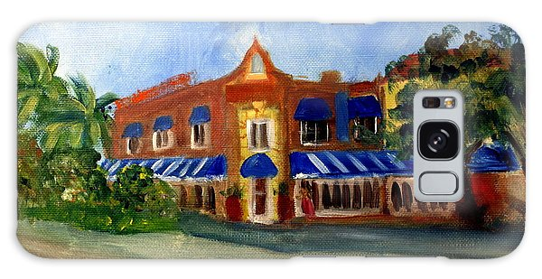 Vic And Angelos In Downtown Delray Beach Galaxy Case by Donna Walsh