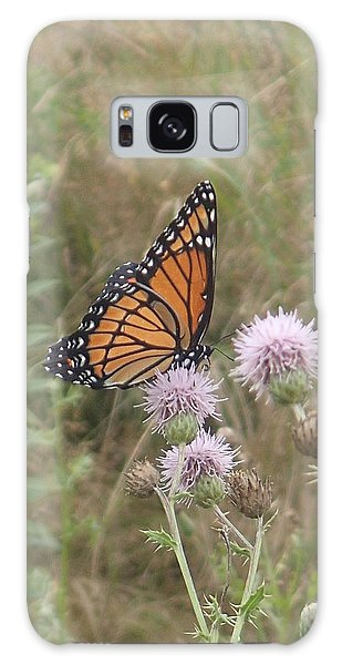 Viceroy On Thistle Galaxy Case by Robert Nickologianis