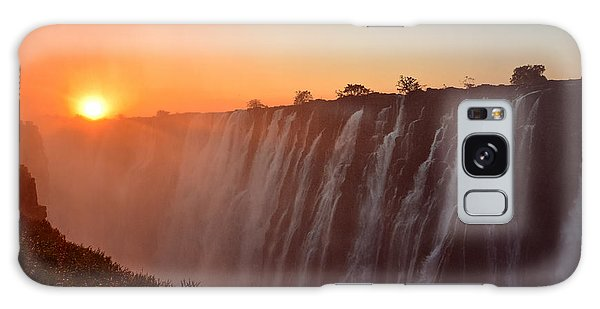 Victoria Falls At Sunset Galaxy Case