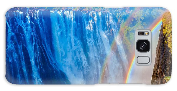 Victoria Falls Double Rainbow Galaxy Case