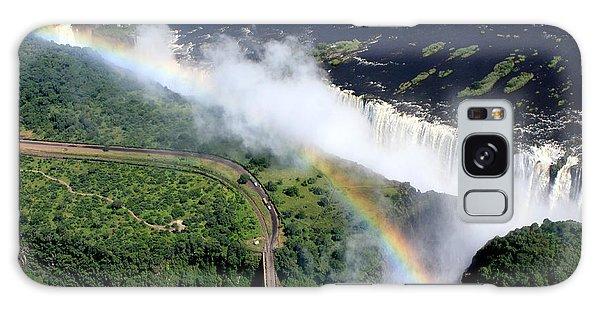 Rainbow Over Victoria Falls  Galaxy Case