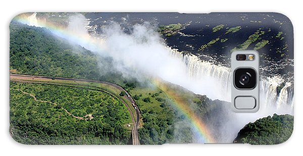 Rainbow Over Victoria Falls  Galaxy Case