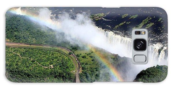 Rainbow Over Victoria Falls  Galaxy Case by Aidan Moran