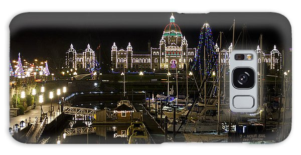 Victoria Harbour At Christmas Galaxy Case by Maria Janicki