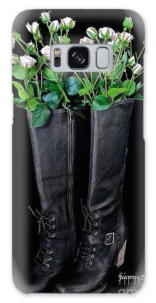 Victorian Black Boots Galaxy Case
