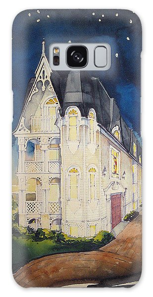 The Victorian Apartment Building By Rjfxx. Original Watercolor Painting. Galaxy Case