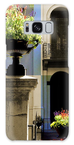 Victorian House Flowers Galaxy Case