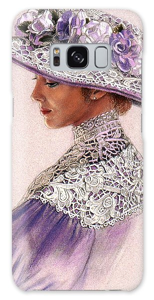Victorian Lady In Lavender Lace Galaxy Case by Sue Halstenberg