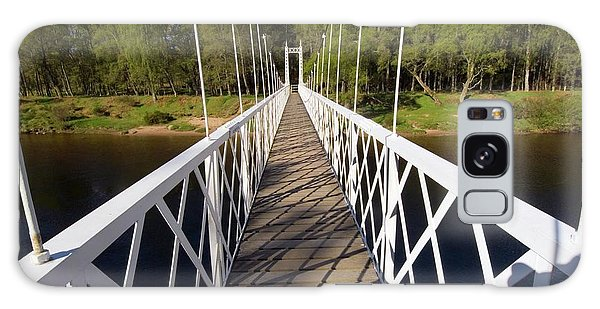 Cairngorms National Park Galaxy Case - Victorian Suspension Bridge by Duncan Shaw/science Photo Library