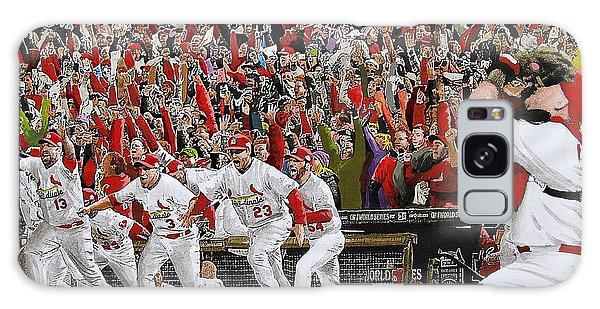 Cardinal Galaxy Case - Victory - St Louis Cardinals Win The World Series Title - Friday Oct 28th 2011 by Dan Haraga