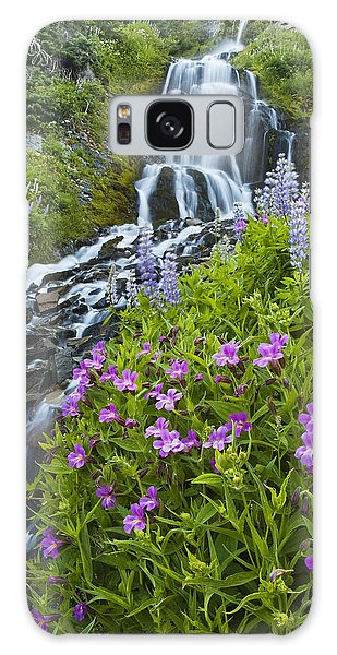 Vidae Falls And Flowers Galaxy Case