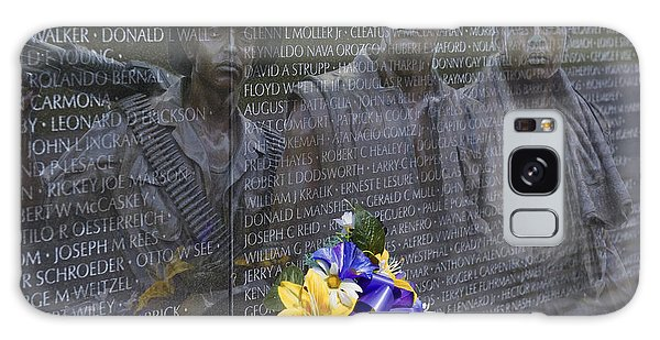 Vietnam Veteran Wall And Three Soldiers Memorial Collage Washington Dc_2 Galaxy Case