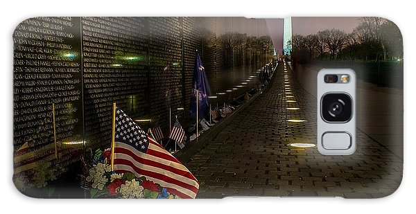 Vietnam Veterans Memorial At Night Galaxy Case