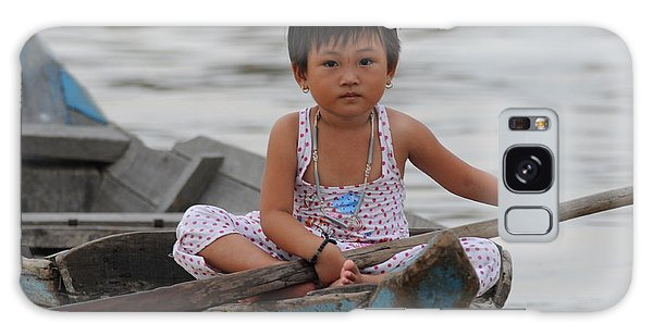 Vietnamese Girl On Lake Tonle Sap Galaxy Case by Vivian Christopher