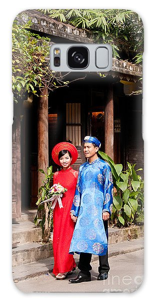 Vietnamese Wedding Couple 01 Galaxy Case