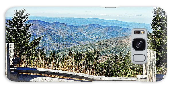 View From Mt. Mitchell Summit Galaxy Case by Lydia Holly