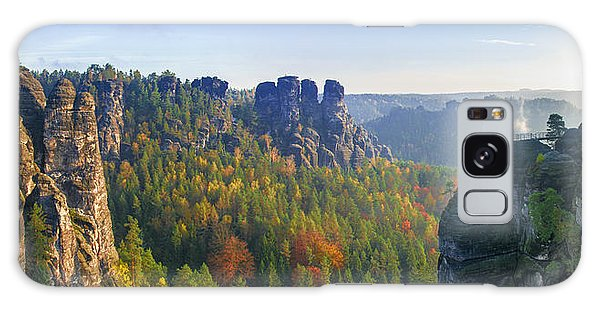 View From The Bastei Bridge In The Saxon Switzerland Galaxy Case