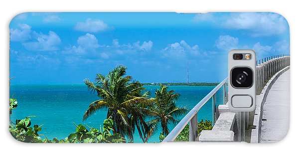 View From The Old Bahia Honda Bridge Galaxy Case