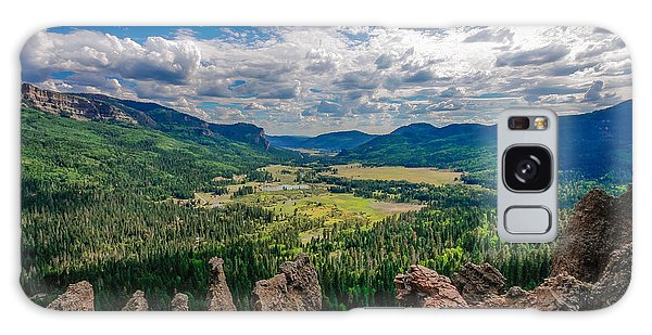 View From Wolf Creek Pass Galaxy Case by Karen Stephenson