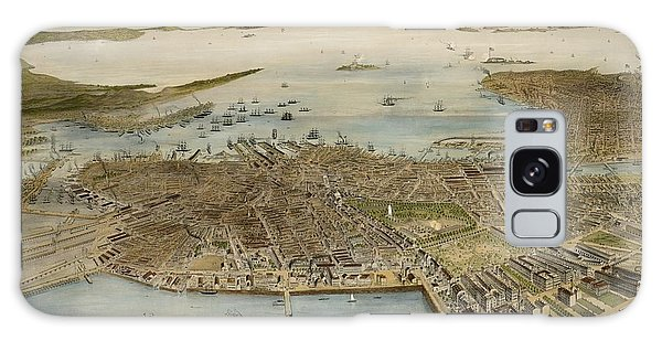 View Of Boston July 4th 1870 Galaxy Case
