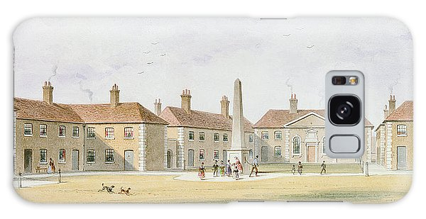Alms Galaxy Case - View Of Charles Hoptons Alms Houses, 1852 Wc On Paper by Thomas Hosmer Shepherd