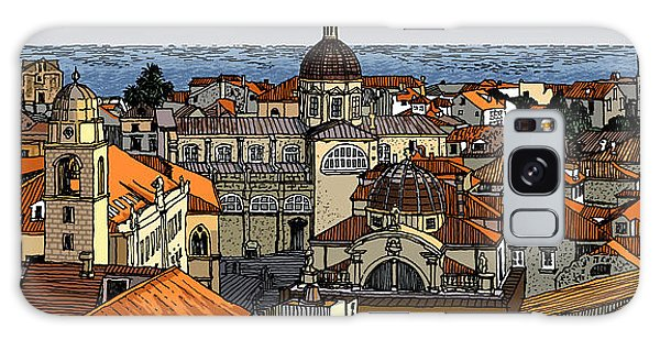 View Of Dubrovnik Galaxy Case