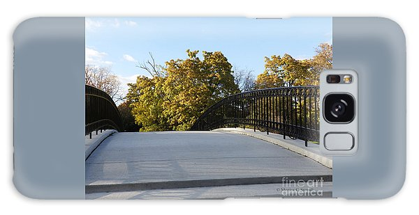 View Of Fall Trees From Footbridge - M Landscapes Fall Collection No. Lf21 Galaxy Case