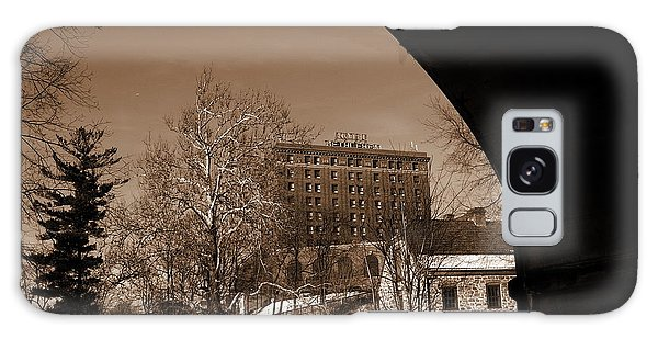 View Of Hotel Bethlehem From Colonial Industrial Quarter - Sepia Galaxy Case