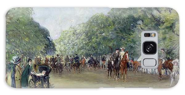 View Of Hyde Park With Figures On Rotten Row  Galaxy Case