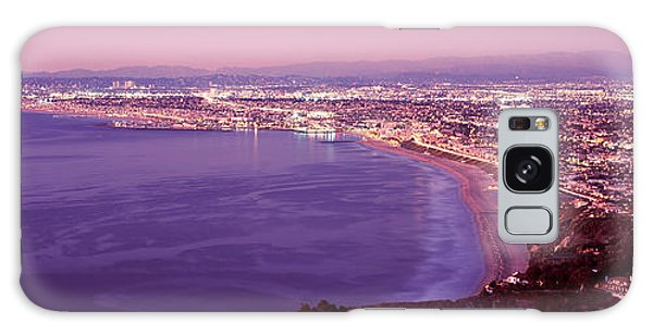Santa Monica Galaxy S8 Case - View Of Los Angeles Downtown by Panoramic Images