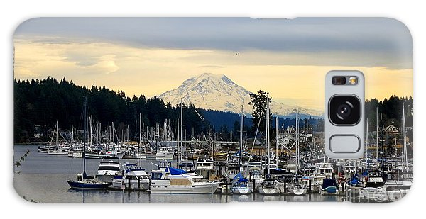 View Of Mt. Rainier From Gig Harbor Wa Galaxy Case by Tanya  Searcy