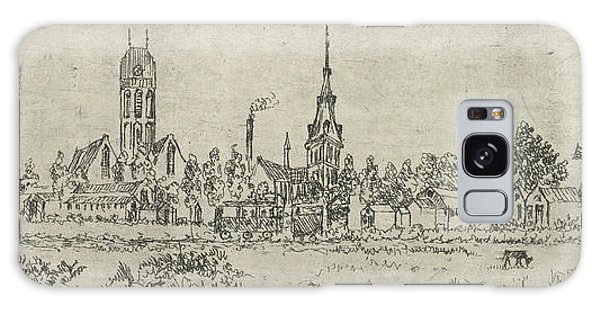 Pasture Galaxy Case - View Of Oudewater, The Netherlands, Eberhard Cornelis Rahms by Eberhard Cornelis Rahms