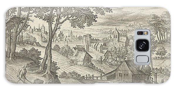 Pasture Galaxy Case - View Of Saint-gilles, Belgium, Hans Collaert by Hans Collaert (i) And Hans Bol And Claes Jansz. Visscher (ii)