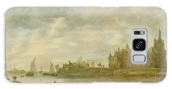 View Of The Castle Of Wijk At Duurstede Galaxy Case