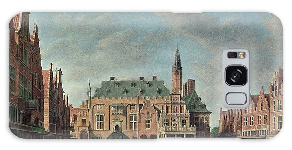 Town Square Galaxy Case - View Of The Grote Markt In Haarlem Oil On Canvas by Gerrit Adriaensz Berckheyde