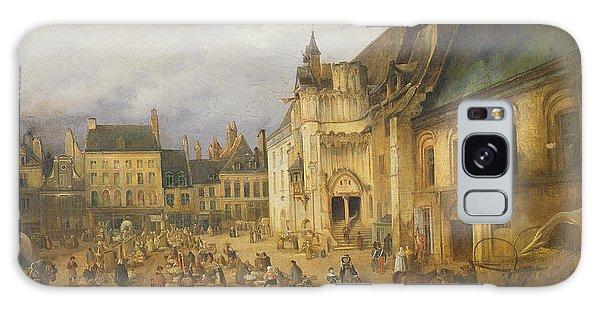 Town Square Galaxy Case - View Of The Place De Lhotel De Ville, Saint-omer, 1832 Oil On Canvas by Charles Goureau