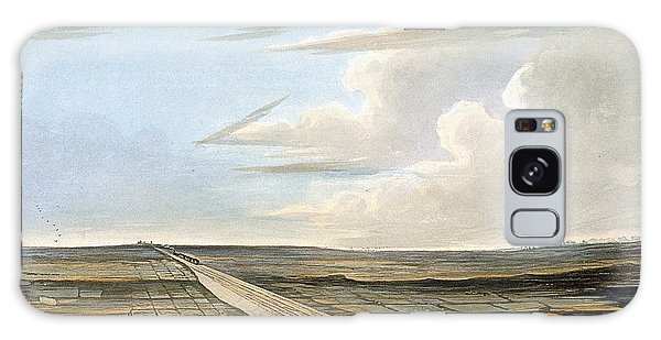 Trains Galaxy Case - View Of The Railway Across Chat Moss by Thomas Talbot Bury